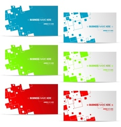 various business card design vector image vector image