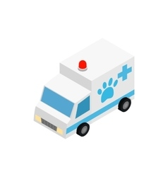 Veterinary ambulance icon isometric 3d style vector image vector image