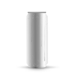 can drink drops shadow vector image vector image