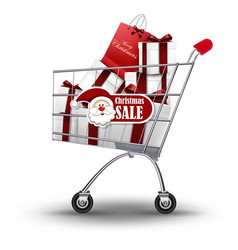 christmas shopping and gifts vector image vector image
