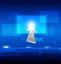 cursor click button on screen vector image