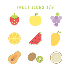 fruit icons one vector image