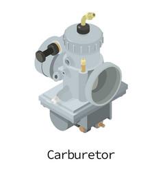 Carburetor icon isometric 3d style vector