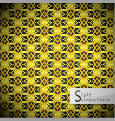 flower lattice loop gold vintage geometric vector image