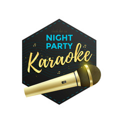 Karaoke party label vector