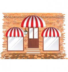retail building vector image
