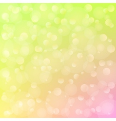 spring background with bokeh vector image vector image