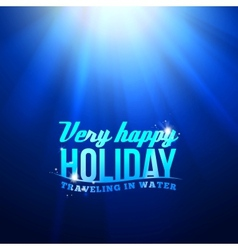Underwater sunrays for aqua travel design vector image vector image
