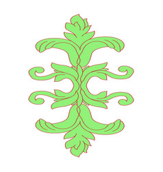 a fragment of image of leaves vector image