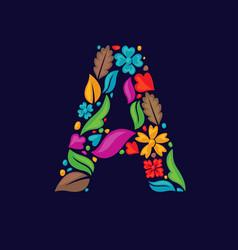 A letter floral vector