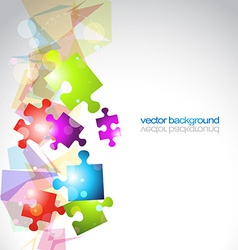 Abstract puzzle shape background vector