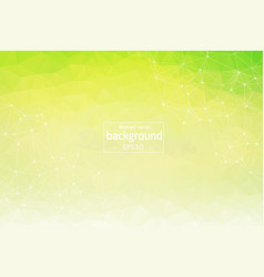 abstract white green polygonal space background vector image