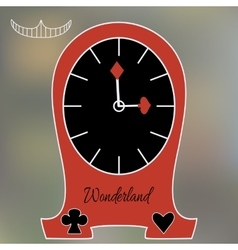 Alice Clocks from Wonderland World vector image