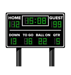 American football scoreboard sport game score vector