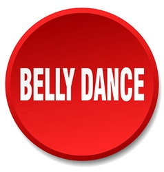 Belly dance red round flat isolated push button vector