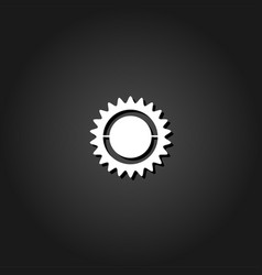 bike chainring chainwheel icon flat vector image