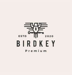 bird key hipster vintage logo icon vector image