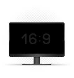black 16 to 9 computer monitor vector image