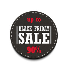 Black friday sale up to tag isolated on a vector