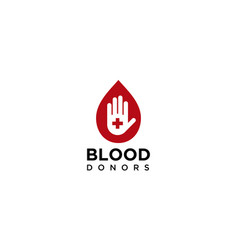 Blood donors for logo design editable vector