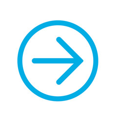 blue right next arrow in blue circle vector image