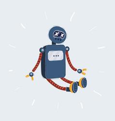 broken robot fall down vector image