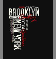 Brooklyn sport typography design vector