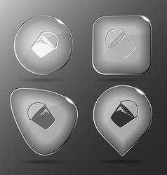 Bucket glass buttons vector