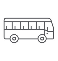 bus thin line icon transport and transportation vector image