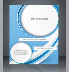 Business brochure blue design magazine cover vector