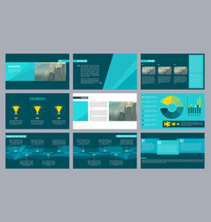 business presentation template magazine pages or vector image