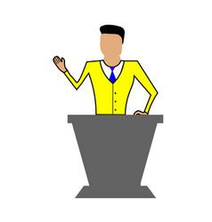 Businessman working character vector