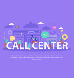 Call center flat composition vector