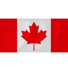Canada waving flag vector