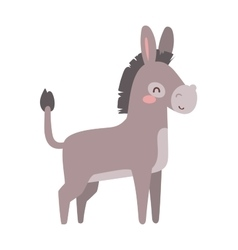 Cartoon donkey animal vector image