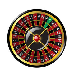 casino roulette - modern isolated clip art vector image