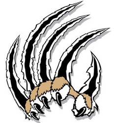 Cat claw logo mascot vector