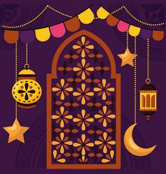 celebration eid mubarak vector image