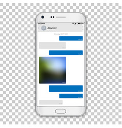 Chat messenger on phone screen vector