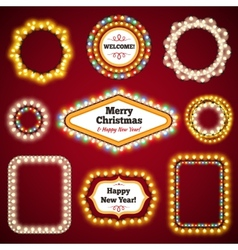 Christmas Lights Frames with a Copy Space Set3 vector image