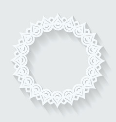 Circle ornamental frame round pattern vector