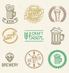 Craft beer and brewery logos vector
