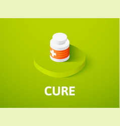Cure isometric icon isolated on color background vector