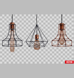 decorative edison light bulb wire shade vector image