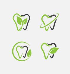 Dental logo set vector