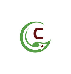 Eco home initial c vector