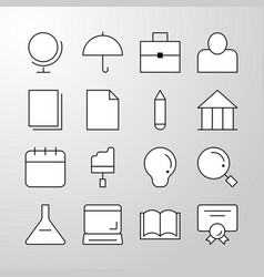 education school university thin line icon vector image