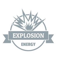 Energy explosion logo simple gray style vector