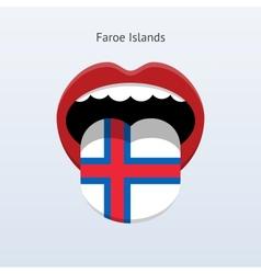 Faroe Islands language Abstract human tongue vector image