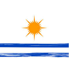 Flag palmas with brush stroke the capital of vector